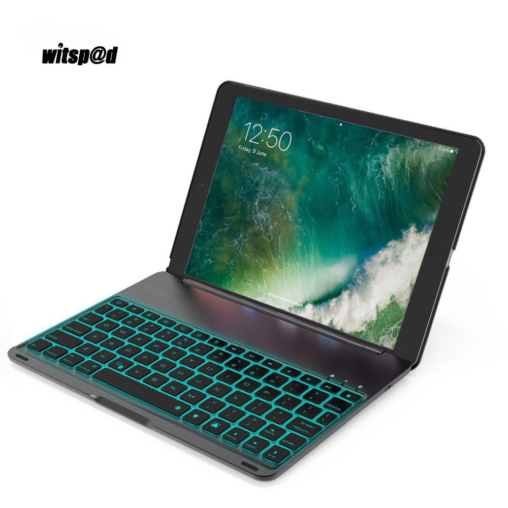 Witsp@d For Ipad Pro 10.5 Tablet Keyboard USB Backlight Smart Case Cover Luxury Bluetooth Keyboard For iPad Pro 10.5 Smart Case