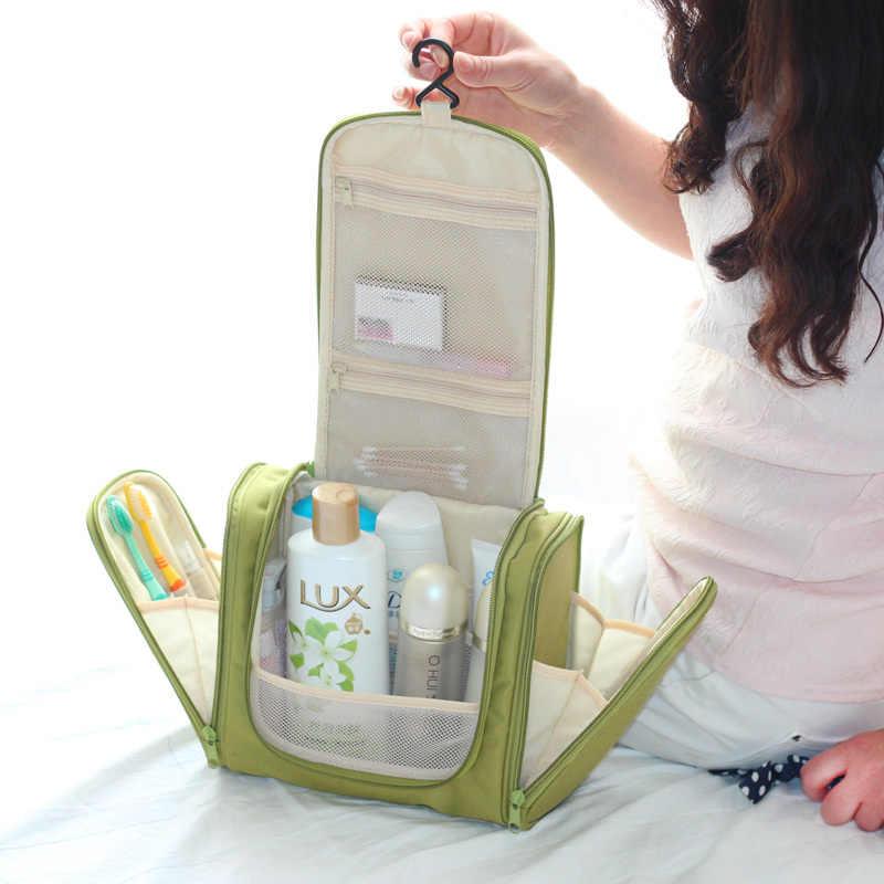 2d250b5d8276 Waterproof Travel Cosmetic Bag Organizer Toiletry Makeup Bag Organizador  Wash Make Up Bag Bolsa Neceser Maquillaje