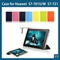 7 цветов выбор планшет кожа чехол для Huawei MediaPad 7 молодежь S7-701U S7-701W S7-721 чехол + экран протектор