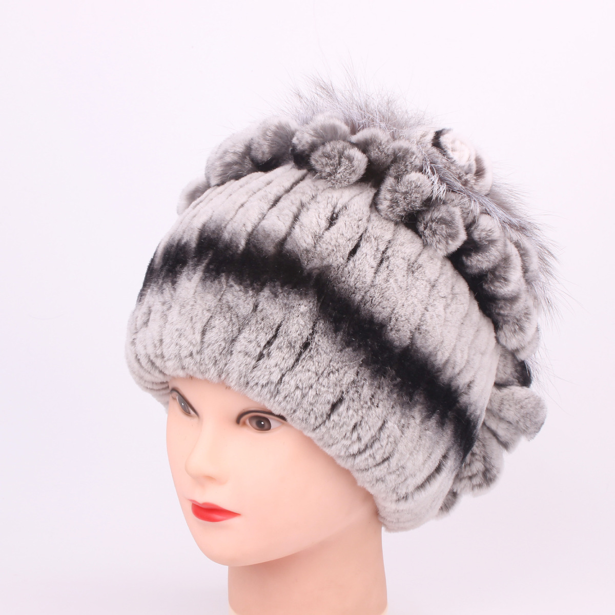 dae846645e030 Rex Rabbit s Hair Leather And Fur Ma am Hats for women High Archives  Leather And Fur Winter Keep Warm Fox Woman hat female