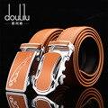 2016 cinturones de cuero Genuino para los hombres marca hombres de la correa de la correa automática de la hebilla de metal establece ceintures homme