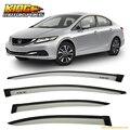Fit Für 12-15 Honda Civic Limousine Sonne Fenster Visier Regen Guard Alabaster Silber Metallic # NH700M