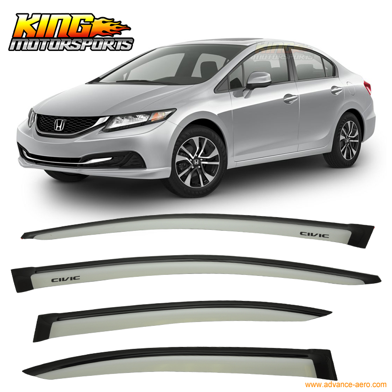 Disciplined For 12-15 Honda Civic Sedan Sun Window Visor Rain Guard Alabaster Silver Metallic #nh700m Sale Overall Discount 50-70% Awnings & Shelters
