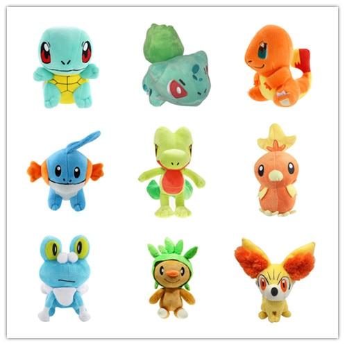 9 pièces/ensemble figurine Anime de démarrage animaux doux peluche poupée Plsuh jouet