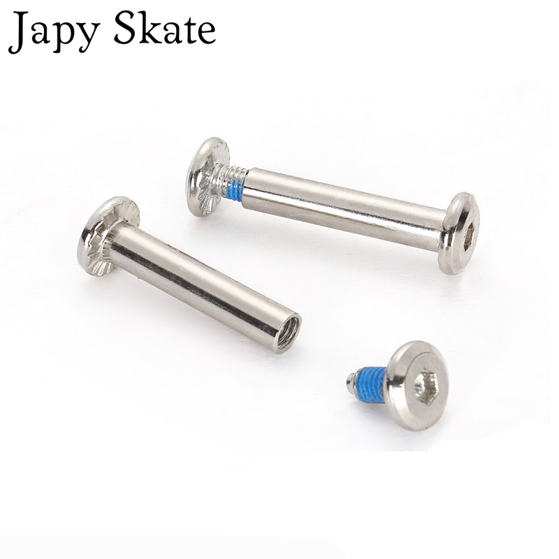 8pcs Roller Skates Parts <font><b>6mm</b></font> Diameter <font><b>Axles</b></font> Male And Female Screws For Child Kid Adult Free Skating Inline Skates 3.1cm or 3.6cm image