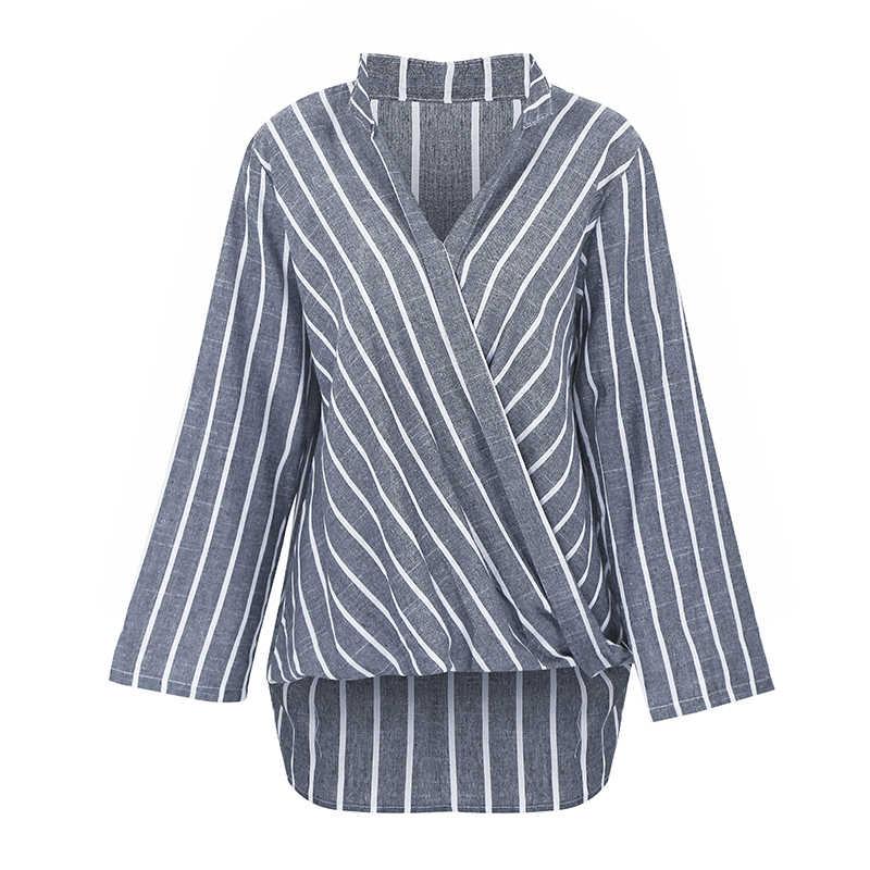 Blouse Women 2019 3XL 4XL 5XL Plus Size Blouse female Shirts Cotton Linen tunics Irregular Hemline Long Sleeve Ladies Tops Black