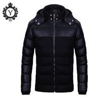 Winter Jacket Men Fashion Patchwork Hoody Male Warm Cotton Padded Coats Zipper Black Campera Hombre Invierno