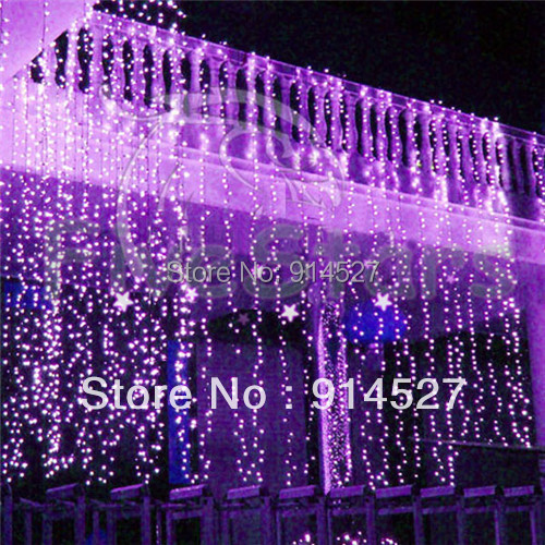 Outdoor Party Lights Screwfix: Outdoor 600 LED 6X3M Curtain Lights Purple White RGB