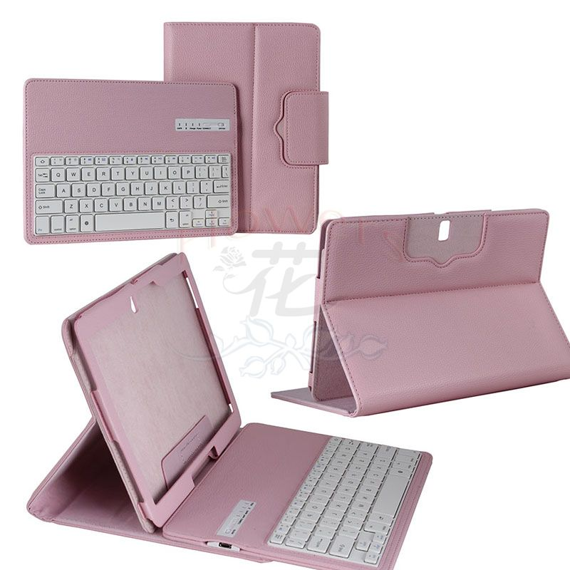 все цены на For Samsung Galaxy Note Pro & Tab Pro 12.2 SM-P900 / P905 Bluetooth Keyboard Cover Case (Smart Cover Wake / Sleep) Pink онлайн