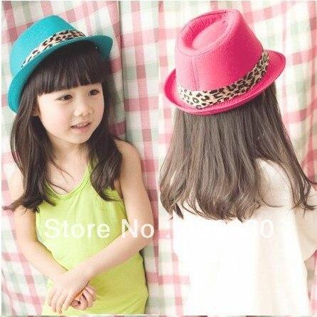 dacc4c1141995 Moda bebé Niñas Fedora sombrero para niños Jazz tribly tapa de bebé  sombreros 10 unids lote envío libre prxb-007