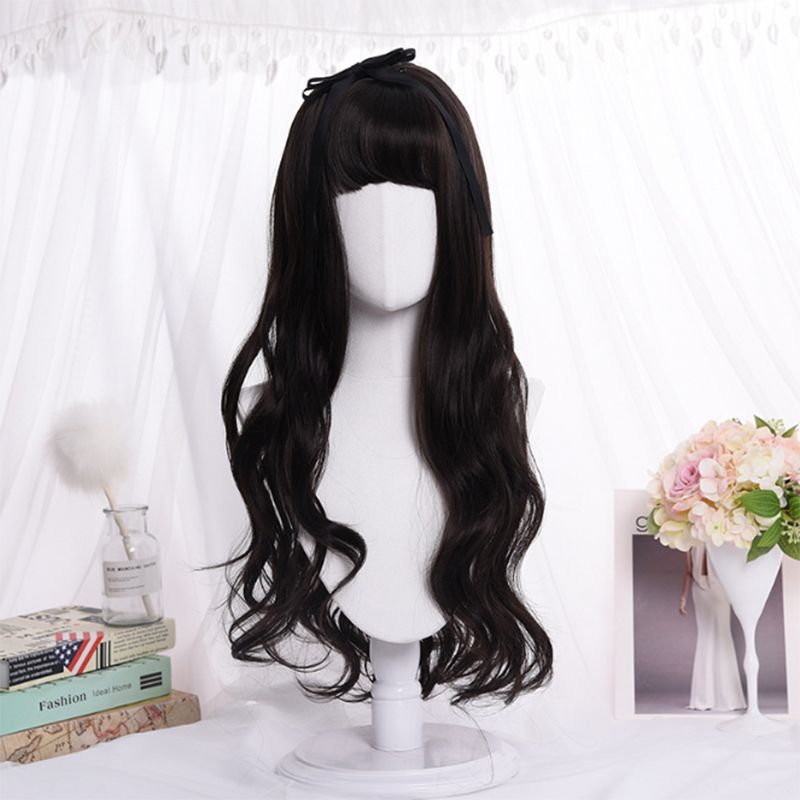 Cartoon Fashion Wigs Women Hair Girl Kawaii Lolita Cosplay Wig Heat Resistant Synthetic Wig Halloween Carnival Party Daily Wig