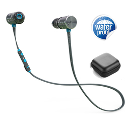 LETIKE Wireless Bluetooth Earphones 4.1 Magnetic Stereo In-Ear Earbuds IPX5 Waterproof dual battery for Sport Runner