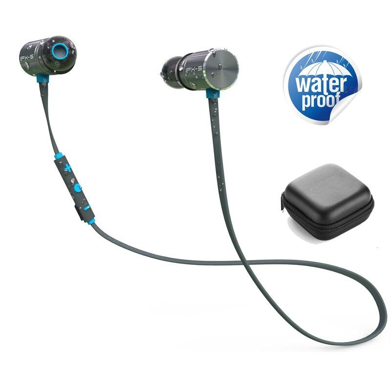 LETIKE inalámbrica Bluetooth auriculares 4,1 magnético estéreo en la oreja los auriculares IPX5 dual impermeable de batería para deporte Runner