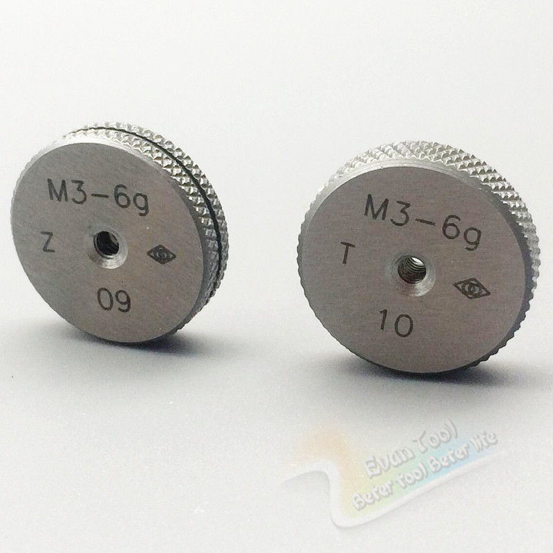 M3 Go and No Go Metric thread ring gage gauge tools(set of 2 ) 6G  цены