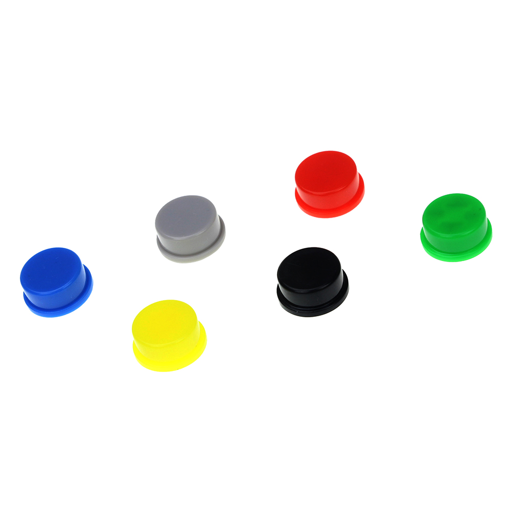 Smart Electronics 10Pcs Switch Tact Cap Applied Tactile Push Button Switch Momentary 12*12*7.3MM 10pcs 6mm toggle switch waterproof cap dust cap mts mini toggles cap wpc 05 waterproof glue cap