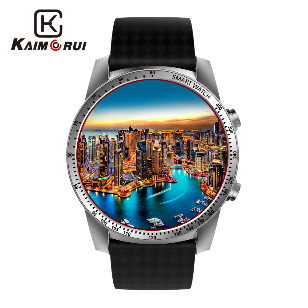 цена Kaimorui Android Smart Watch Men SIM Card 512MB+8GB Bluetooth Smartwatch Heart Rate Tracker GPS WiFi for Android IOS Watch Phone