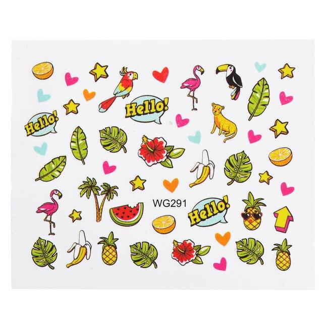 1 Sheet Flanmigo Pineapple Watermelon Summer Partten Nail Art Water Transfer Sticker Nail Art Decoration Decal Manicure  BEWG291