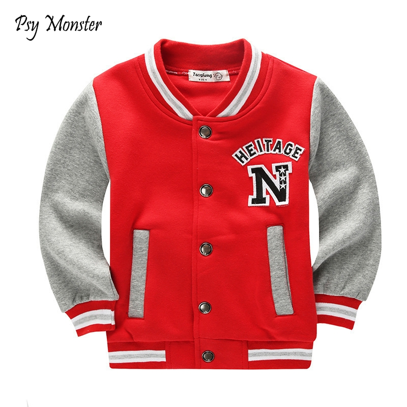 School Baseball Coats for Student Boys Girls Spring Jacket Children's Autumn Sports Basketball Running Clothes for Kids A73