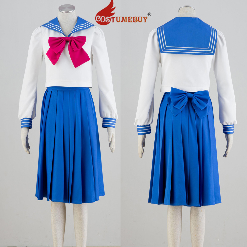 CostumeBuy Anime Sailor Moon Tsukino Usag School Uniform Suit Costume Adult Girls Top Skirt Costume L920