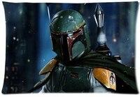 Popular Star Wars Boba Fett Darth Vader Robot and Yoda Pillow Case Zippered Rectangle Throw Pillow Protector Pillowcase Cover