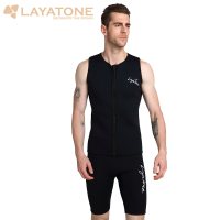 Black 3mm Rubber Neoprene Wetsuit Vest Shorts Men Swimwear Swimsuit Set Keep Warm For Fishing Scuba