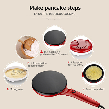 ANIMORE Electric Crepe Maker พิซซ่าเครื่องแพนเค้ก Griddle ไม่ติด Baking PAN เค้กครัวเครื่องมือทำอาหาร Crepe