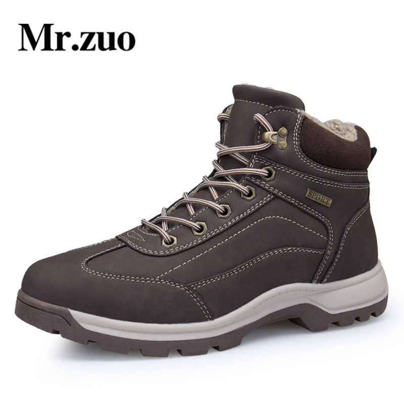 Men Hiking Shoes Winter Sneakers With Fur 2017 Warm Snow Boots Men Shoes Footwear Male Rubber Trekking Boots big sizes 45 46 new casual mens cheap winter shoes keep warm with fur outdoor male snow shoes plush boots fashion men s suede leather sneakers