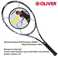 1pc High Quality Carbon Fiber Tennis Rackets Male and female Racquet Sports Tennis Accessories Oliver Tennis Rackets