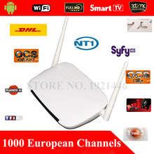 European & Arabic IPTV Android TV Box 1300+Channels Sky IT DE UK Turkish Serbia French Greece Sweden Albanian Set Top Box By DHL