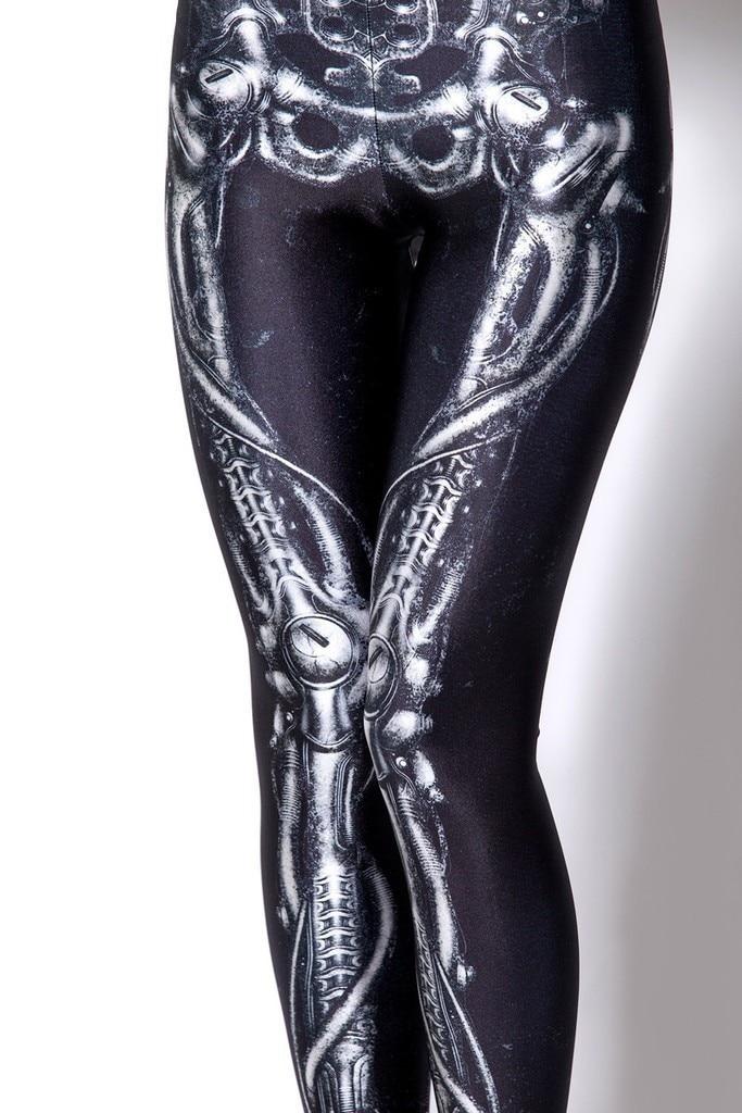 2016 Fashion New Sexy Trendy Popular X Ray Bone Skeleton Leg font b Leggings b font