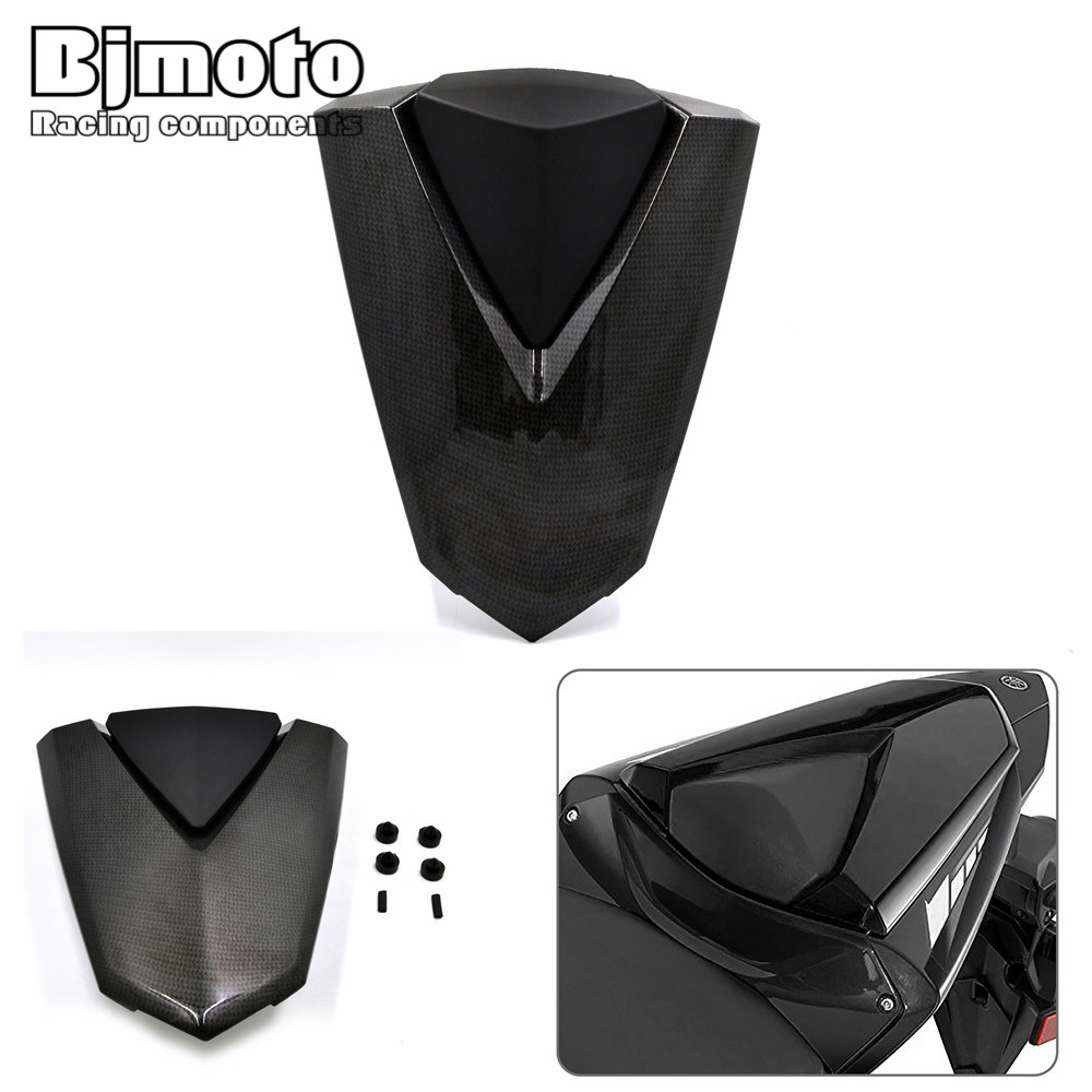 Bjmoto motorcycle Pillion Rear Seat Cover Tail Fairing Cowl Passenger For Yamaha Yzf -R3 2015-2017 R3 ABS 2017 R25 2013-2017 for 2002 2005 kawasaki ninja zx9r zx 9r motorcycle rear passenger seat cover cowl black 01 02 03 04 05