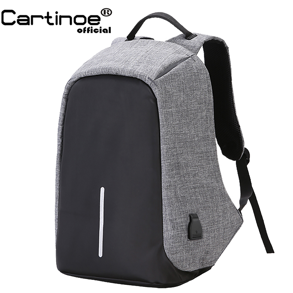 Cartinoe Anti-theft 15.6 inch Laptop Backpack Men Women Backpack External USB Charge Notebook Computer Backpack bag for Macbook cool bell anti theft notebook backpack 15 6 inch waterproof computer backpack for men women external usb charge laptop bag