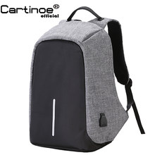 Cartinoe Anti-Theft Laptop 15.6 Inch Tas Ransel Pria/Tas Laptop untuk Macbook Air Pro 17 Inch Eksternal USB Charge Notebook Casing(China)