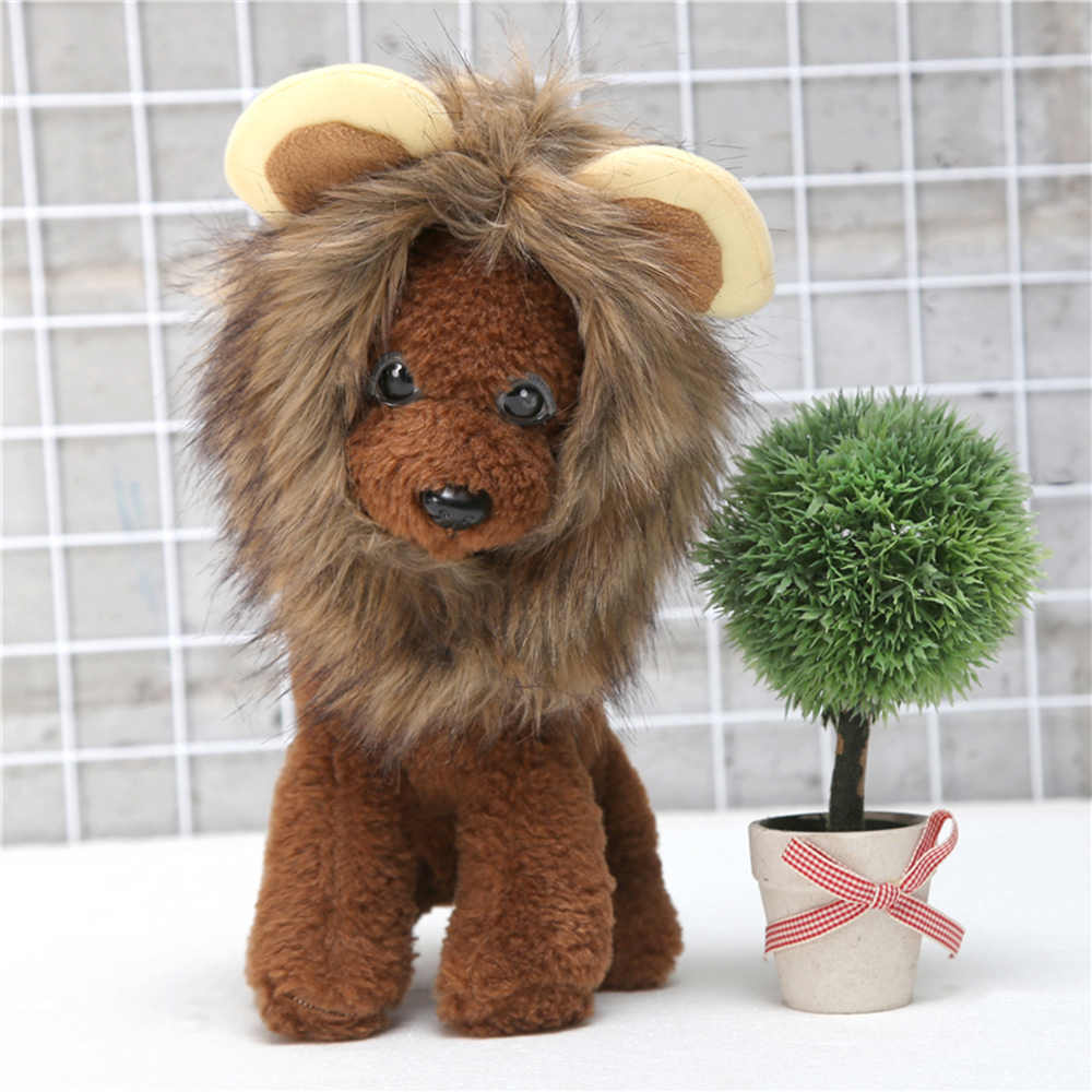 59b9752b7 ... Cute Pet Costume Wig Caps for Cat Puppy Pet Dog Lion Hair Hats Party  Halloween Cosplay