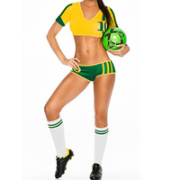 Europe And American Baseball Team Colors Clothing Cheerleading Uniforms Girls Party Dress Game Costumes Set