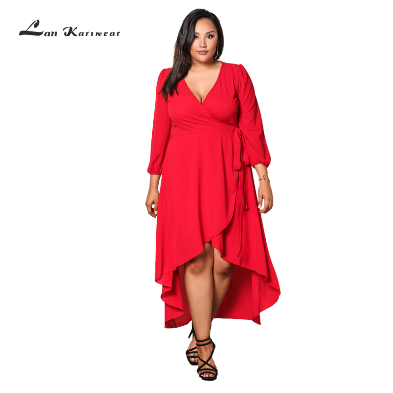 Lan Karswear Autumn Dress Big Size Sexy Bandage Dress Maxi Black Women Dress Party Dresses Vestido Plus Size Women Clothing