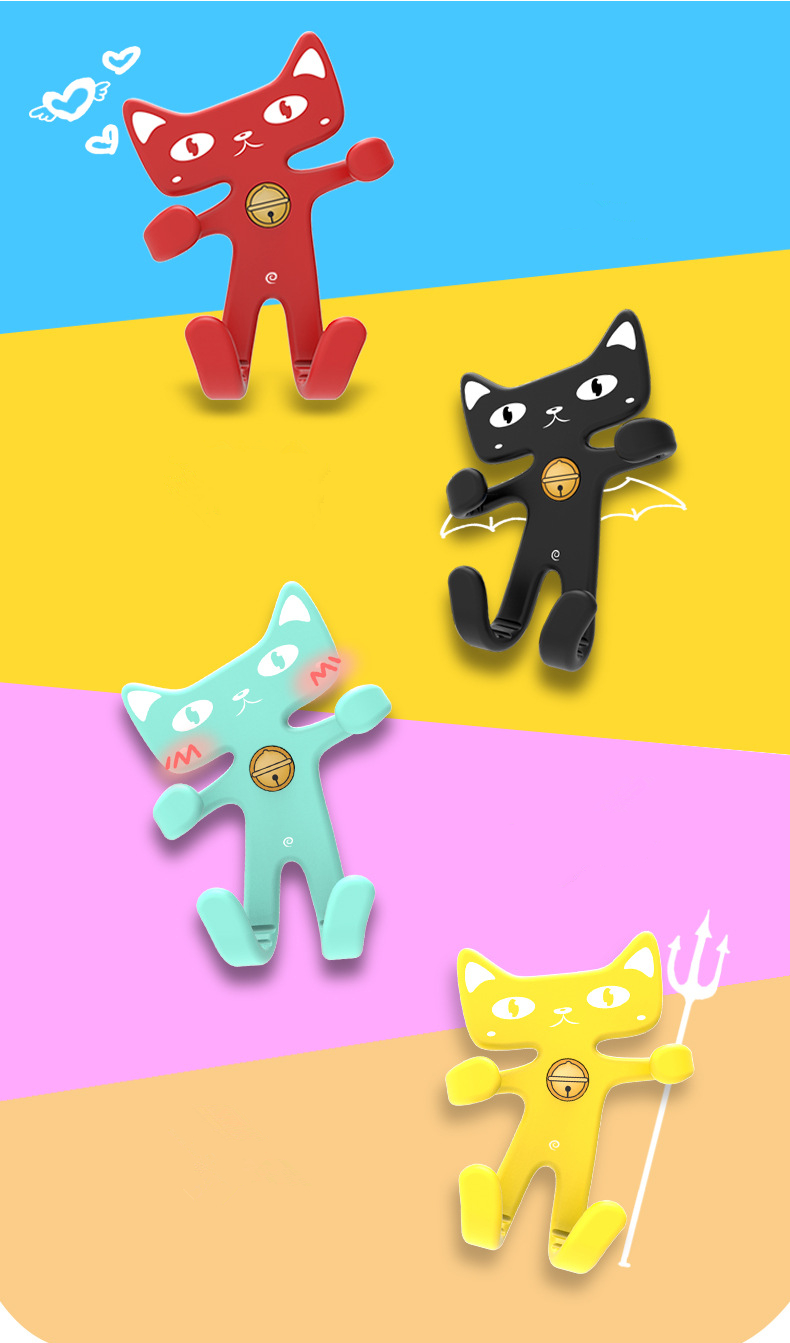 Flexible Soft Rubber Cat Car Phone Holder