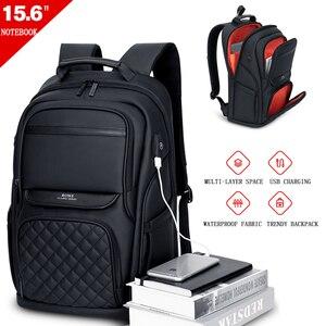 Image 2 - Fenruien אופנה גברים תרמיל רב תכליתי עמיד למים 15.6 אינץ תיק מחשב נייד USB טעינת נסיעות תיק מזדמן נשים ילקוט