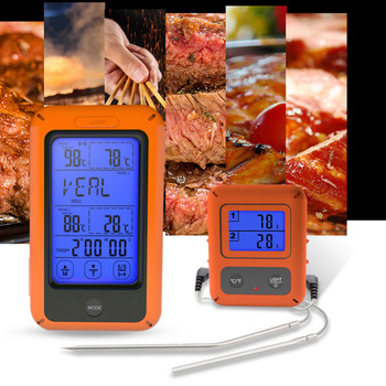Termometro Per Carne Digitale Senza Fili | Termometro Di Carne Con Touchscreen Digital Cottura Di Cibi A Base Di Carne A Distanza Senza Fili Retroilluminazione Termometro Con Dual Cibo/forno Sonda