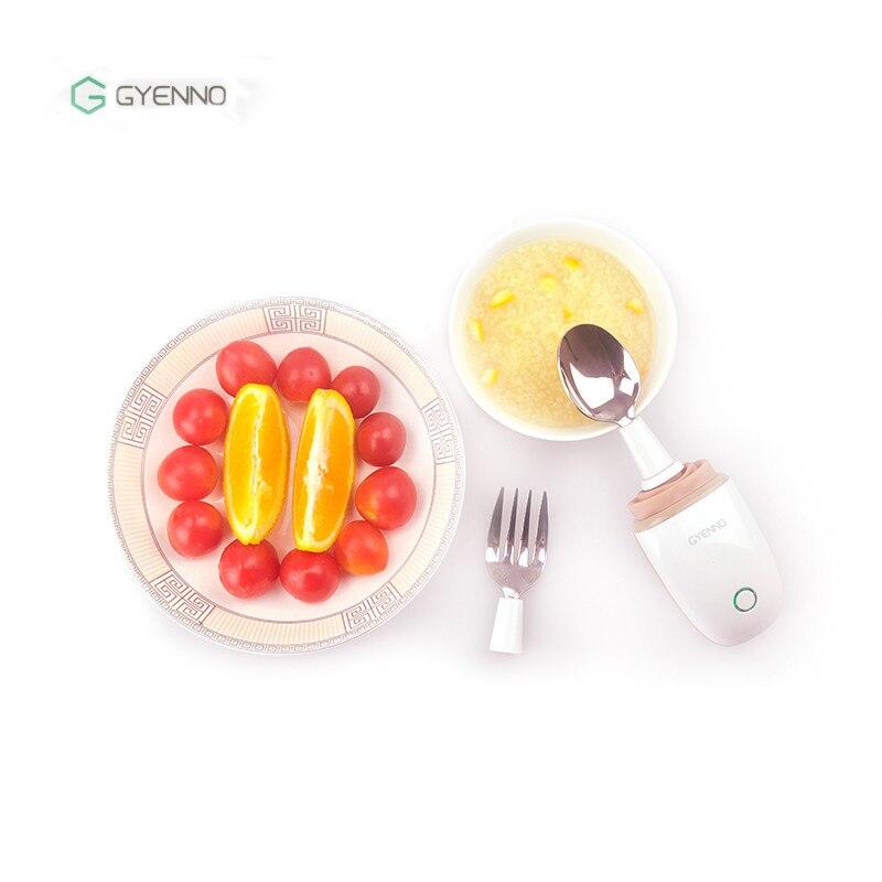 GYENNO cuillère fourchette nouveau coffre-fort intègre des Modules de contrôle intelligents Anti-Tremble cuillère stable pour les Patients Parkinson main tremblement