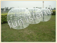 clear human inflatable bumper bubble ball, best TPU inflatable ball