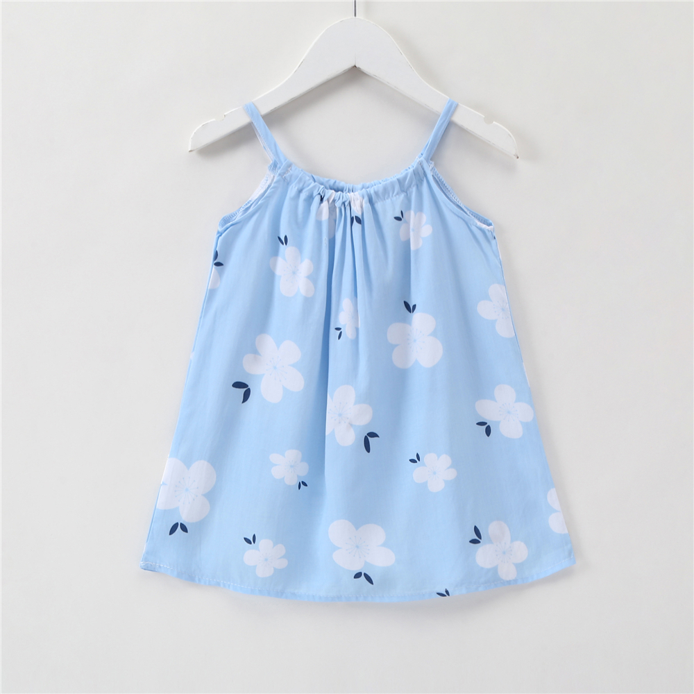 2019 Baby Girls Short Sleeve Dress Kids Summer Print Party Dress Age 1-6 Yrs Old
