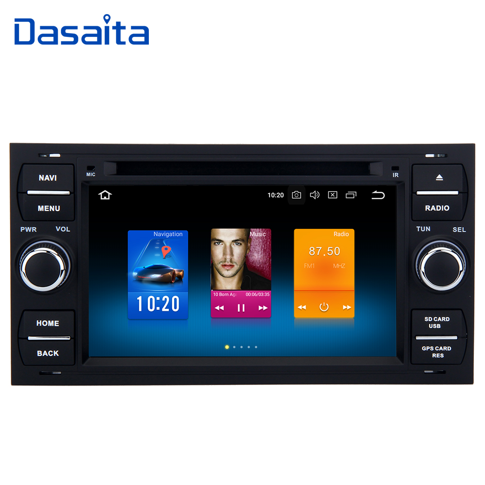"Dasaita 7"" Android 8.0 2 Din DVD Player Car Multimedia for Ford Focus 2 Mondeo Kuga Fiesta 2003 2004 2005 2006 2007 Autoradio-in Car Multimedia Player from Automobiles & Motorcycles    1"