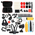 26pcs Outdoor Sports Action Camera Accessories Kit For Swimming Cycling Skiing Running for Xiaomi Gopro 4/3/2 most camera LMPJ