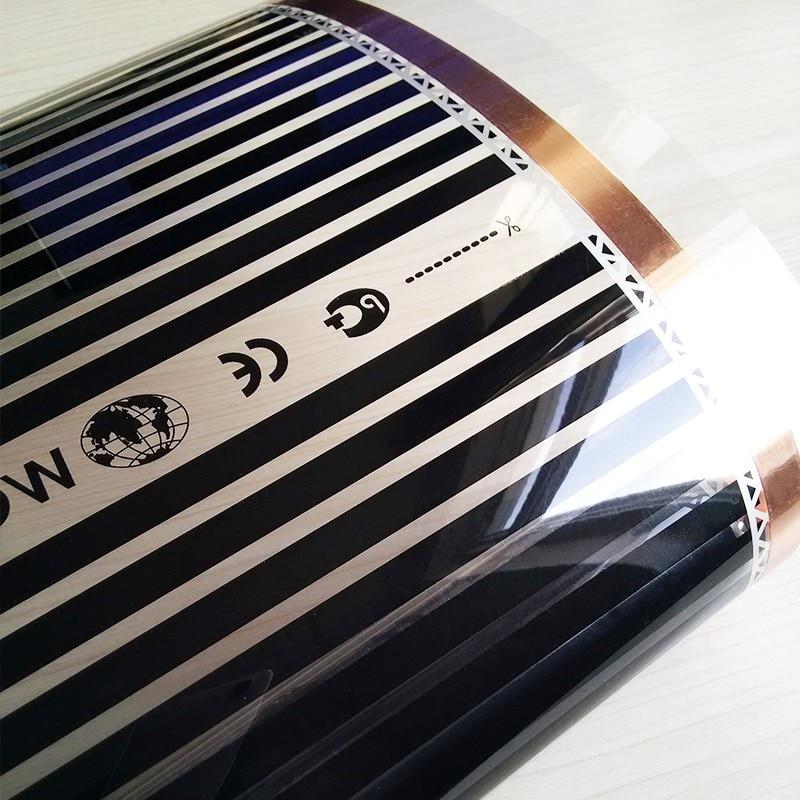 8m2 280 W/m2 220V elektryczny elektryczna folia podczerwieni temperatura niska elektryczna folia grzewcza ciepłe Podłogowa mata grzewcza w Elektryczne poduszki grzewcze od Dom i ogród na  Grupa 1