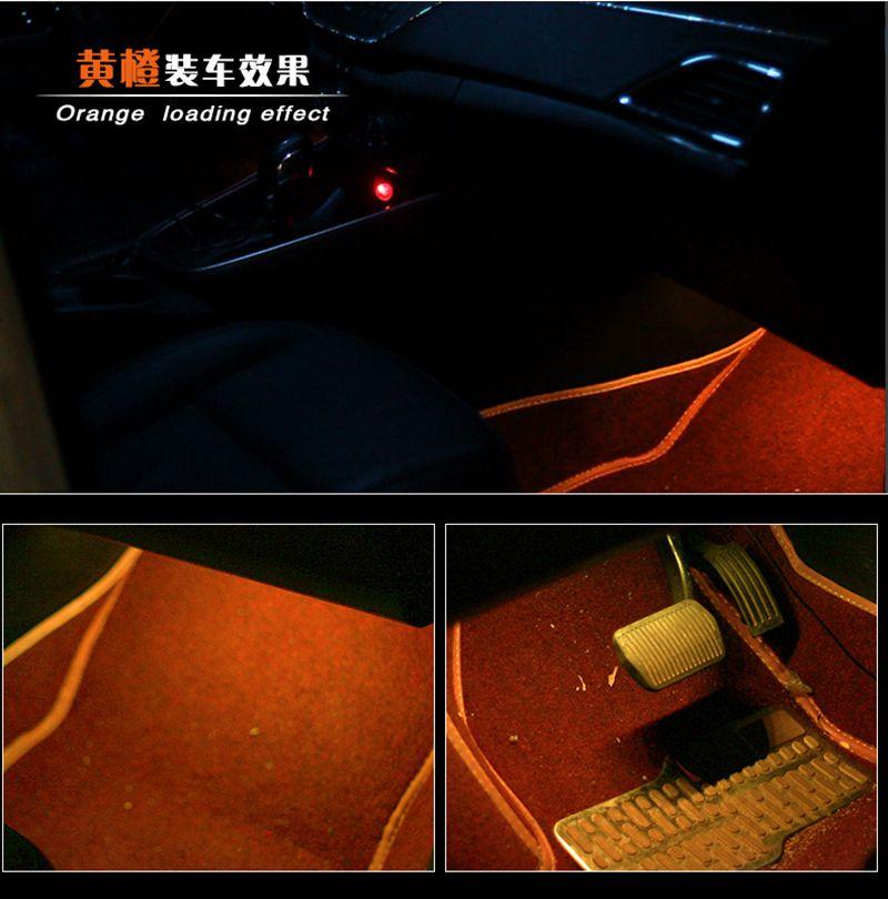 HTB14SYXfLBNTKJjSszbq6yFrFXaa 4pcs Car RGB LED Strip Light LED Strip Lights Colors Car Styling Decorative Atmosphere Lamps Car Interior Light With Remote