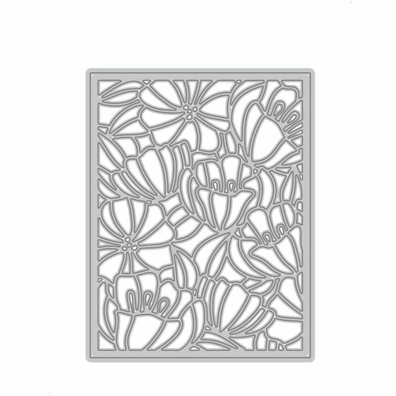 2019 New Layered Metal Cutting Dies Craft and Scrapbooking For Paper Making Background Lace Dainty Blooms Cover Frame Card Set