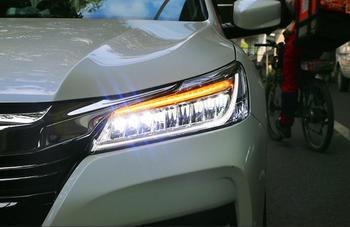 LED Headlights For Honda Accord 2016 Car Led Lights Double Xenon Lens Car Accessories Daytime Running Lights Fog Lights