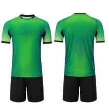 Индивидуальные футболки для футбола Детские майки для футбольной тренировки платья пустые мужские футбольные майки комплекты детские футбольные комплекты Униформа