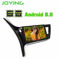 Android 8.0 4G RAM For Toyota Corolla 2017~2018 Car Radio Audio Video out 10.1 auto Car Multimedia Player GPS Navigation Carplay